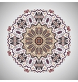 ornamental round geometric pattern in aztec style vector image vector image