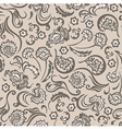 pattern seamless floral beige vector image vector image