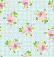 Pattern with pastel pink roses vector image