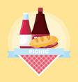 picnic summer design vector image vector image