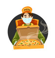 pizza delivery courier vector image vector image