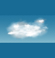 realistic white cloud 3d vector image vector image