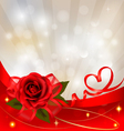 Red rose with gift red bow vector | Price: 3 Credits (USD $3)