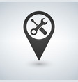 repair pin pointer on map location vector image