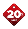 Sale twenty percent pricetag red vector image vector image