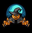 scary halloween pumpkin design vector image