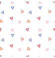 seamless geometric pattern with colours triangles vector image
