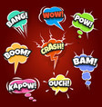 set of comic bubbles drawn in pop art style vector image vector image