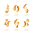 Set of Potato Crispy Falling Chips on Background vector image vector image