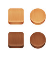 set of wooden app icons vector image vector image