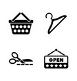 shopping store simple related icons vector image vector image