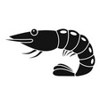 shrimp icon simple style vector image