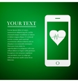 Smartphone with heart rate monitor function flat vector image vector image