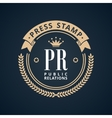 Stamp calligraphic design logo Luxury vector image
