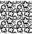 star seamless patterntextile ink brush strokes vector image vector image