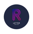the letter r latin alphabet display vector image vector image