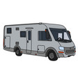 the silver motor home vector image vector image