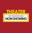 theater glowing retro cinema sign vector image