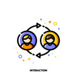 user interaction people communication or customer vector image vector image