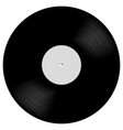 vinyl lp record in realistic style black musical vector image