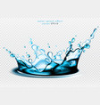 water splash effect high detailed realistic vector image vector image