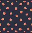watercolor strawberry pattern vector image vector image