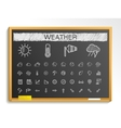 Weather hand drawing line icons chalk sketch sign vector image vector image