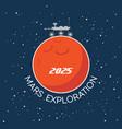 mars exploration cartoon poster vector image