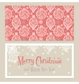 Merry Christmas Congratulations card with vector image