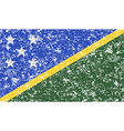 Flag of Solomon Islands with old texture vector image