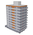 apartment buildings on white background vector image