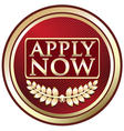 Apply Now Red Label vector image