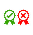 approved and rejected icon vector image