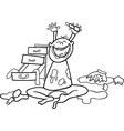baboy and mess for coloring book vector image