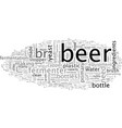 beer how is it made vector image vector image
