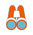 binoculars icon image vector image