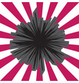 Boom star bursting comic book hole or explosion vector image