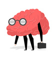 Brain glasses Smart professional Very cute manager vector image vector image