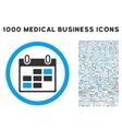 Calendar Days Icon with 1000 Medical Business vector image vector image