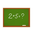 chalkboard with numerals vector image vector image