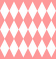 checkered tile pattern or pink and white wallpaper vector image vector image