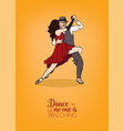 colorful poster template with couple of dancers vector image vector image