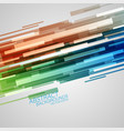 colorful shapes abstract scene vector image vector image
