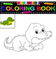 crocodile coloring book vector image vector image