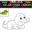 crocodile coloring book vector image