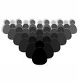 crowd of people icon vector image vector image