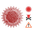 danger trends seal with grungy style vector image vector image