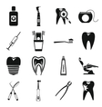 Dental care icons set simple style vector image vector image