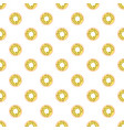 donuts with colored glaze on pattern background vector image vector image