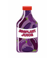 Eggplant juice Juice from fresh vegetables vector image